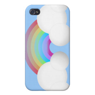 Rainbow & Clouds Cover For iPhone 4