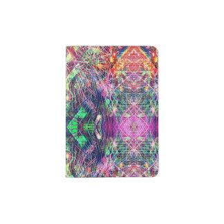 Rainbow Color Abstract Pattern Passport Holder