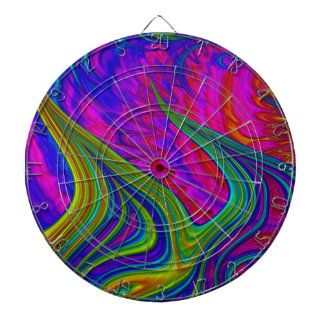 Rainbow colors 3D abstract art Dartboards