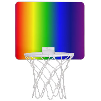 Rainbow Colors Gradient Mini Basketball Goal Mini Basketball Hoop