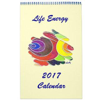 Rainbow Colors Spirals 2017 Calendar Single Page