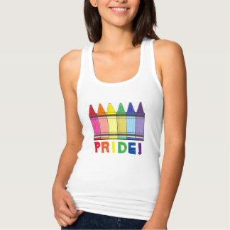 Rainbow Crayon Crayons Artist Pride Tank