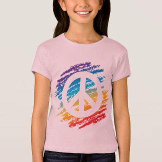 Rainbow Crayon Peace Symbol T-Shirt