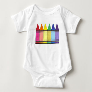 Rainbow Crayons Infant Suit Tshirts