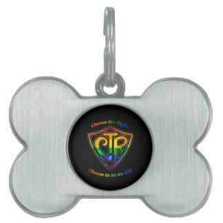 Rainbow CTR - LDS LGBT Ally Pet Tags