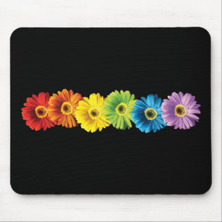 Rainbow Daisies Mouse Pad