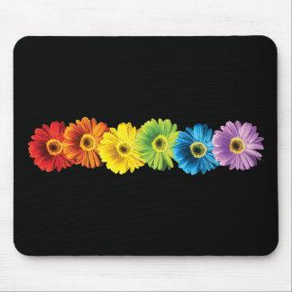 Rainbow Daisies Mouse Pad