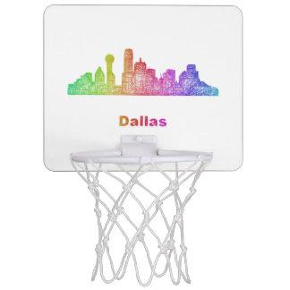 Rainbow Dallas skyline Mini Basketball Hoop