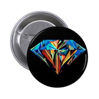 Rainbow Diamond 6 Cm Round Badge