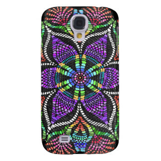 Rainbow Doily Mosaic Galaxy S4 Case