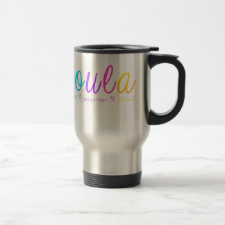 Rainbow Doula Design Travel Mug