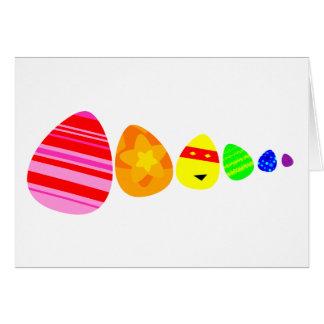 Rainbow Easter Eggs Card