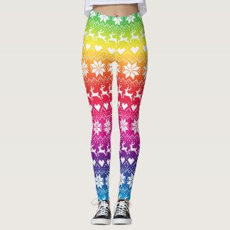 Rainbow Fair Isle Leggings