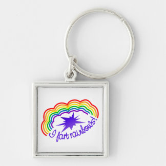 Rainbow Farts key chain