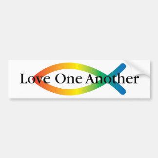 Rainbow Fish Love Car Bumper Sticker