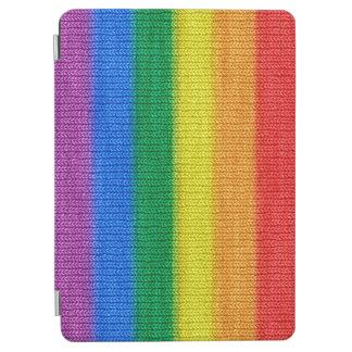 Rainbow Flag knitting Stripes seamless pattern iPad Air Cover