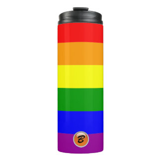 Rainbow Flag Monogrammed Thermal Tumbler