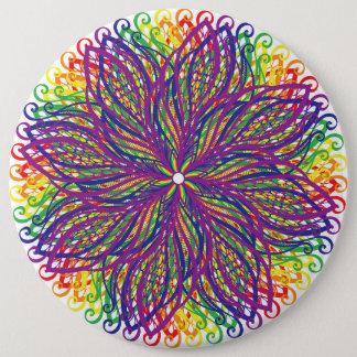 Rainbow Flower Button