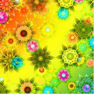 Rainbow Flower Power Photo Sculpture Magnet