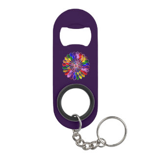 Rainbow Floweret Bottle Opener w/ Keychain