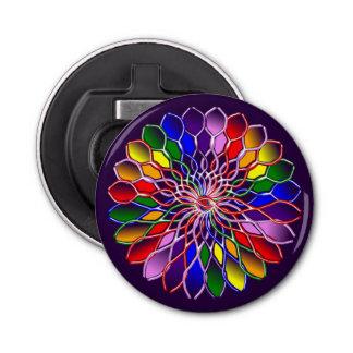 Rainbow Floweret Magnetic Bottle Opener Round