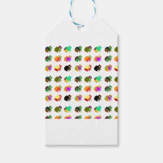 Rainbow Frogs Gift Tags