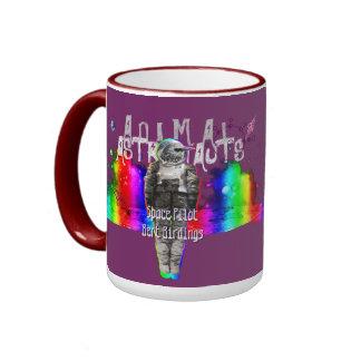 Rainbow Galaxy Bird Animal Astronauts Ringer Mug