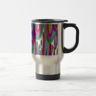 Rainbow garden travel mug