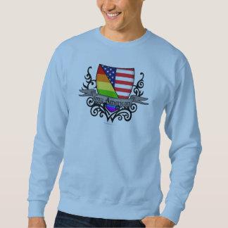 Rainbow Gay Lesbian Pride Shield Flag Sweatshirt