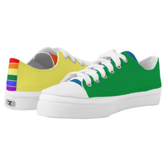 Rainbow Gay Pride Panel Colored Low Tops