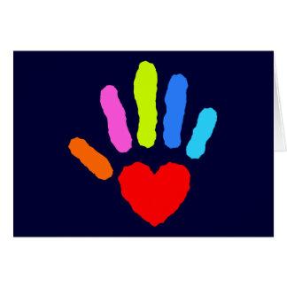 Rainbow Hand Print Card