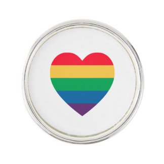 Rainbow Heart Pride Lapel Pin