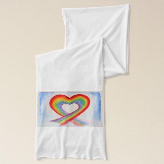 Rainbow Heart Scarf Wrap