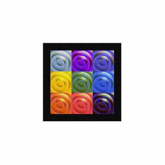 Rainbow Hearts of Love Photo Sculpture Badge