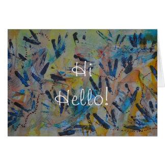 Rainbow Hi Hello Greeting Card by Janz
