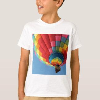 Rainbow Hot Air Balloon with Basket T-Shirt