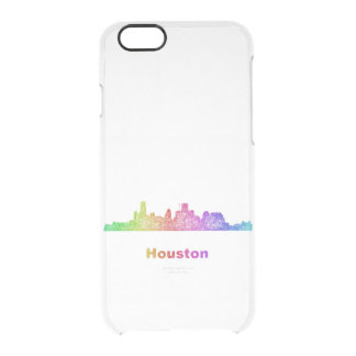 Rainbow Houston skyline Clear iPhone 6/6S Case
