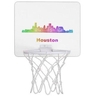 Rainbow Houston skyline Mini Basketball Hoop