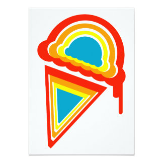 rainbow ice cream dripz custom invitations