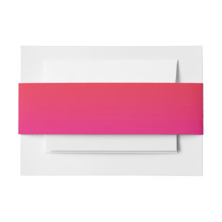Rainbow Image Template Invitation Belly Band
