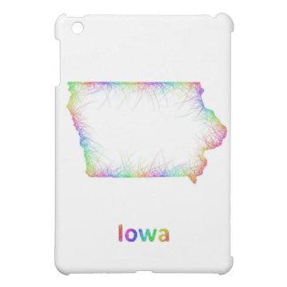 Rainbow Iowa map iPad Mini Cases