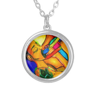 Rainbow Jazz Man Silver Plated Necklace