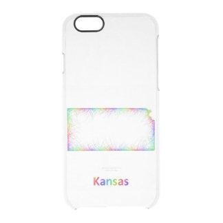 Rainbow Kansas map Clear iPhone 6/6S Case