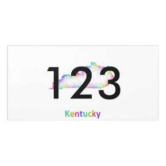 Rainbow Kentucky map Door Sign