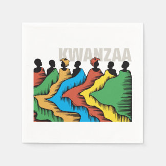 Rainbow Kwanzaa Kwanzaa Party Paper Napkins