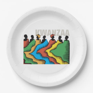Rainbow Kwanzaa Kwanzaa Party Paper Plates