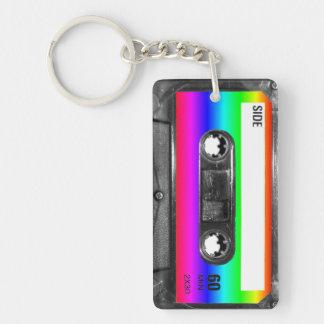 Rainbow Label Cassette Key Ring