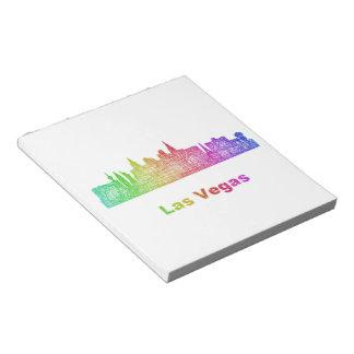 Rainbow Las Vegas skyline Notepad