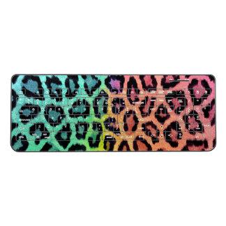 Rainbow Leopard Print Keyboard