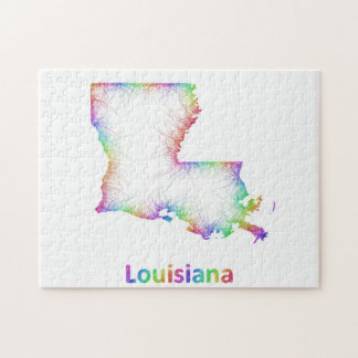 Rainbow Louisiana map Jigsaw Puzzle